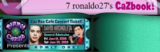 david ticket