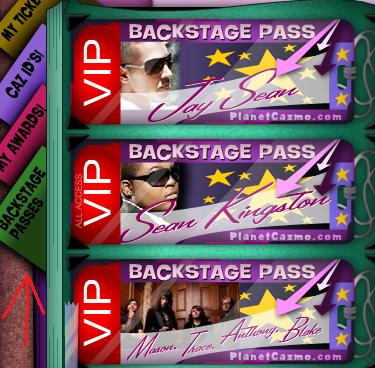 new backstage tickets and cazbook